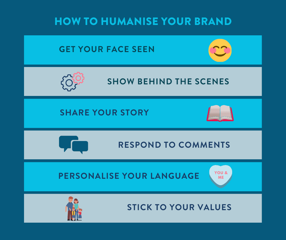 Humanise your brand