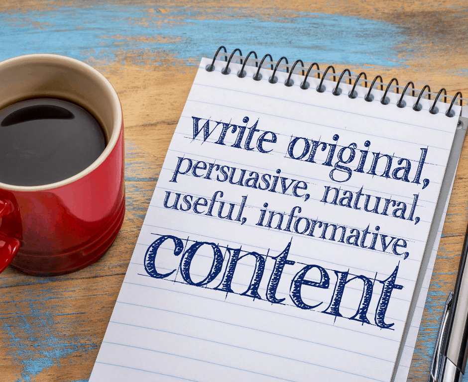 authentic content, copywriting for business